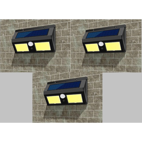 Bộ 3 đèn led đôi cảm biến hồng ngoại năng lượng mặt trời 40 mắt led cob hàng cao cấp