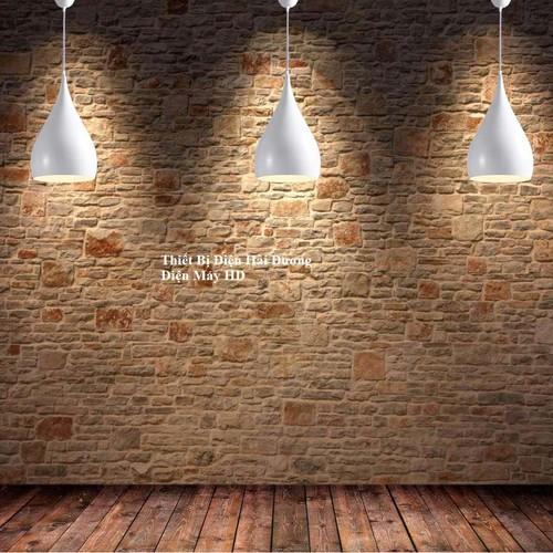 Bộ 3 đèn thả trần hình giọt nước 8217 đen hàng cao cấp