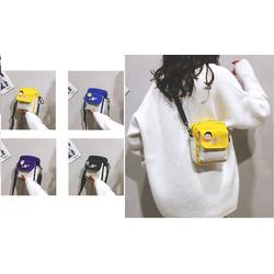 Túi Vải Nữ Đeo Chéo Mini Phong Cách Hàn Quốc Năng Động Cá Tính tặng sticker ngộ nghĩnh -Ảnh thật