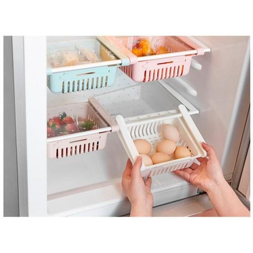 Khay nhựa kéo dài đựng thức ăn, thực phẩm trong tủ lạnh tiện dụng