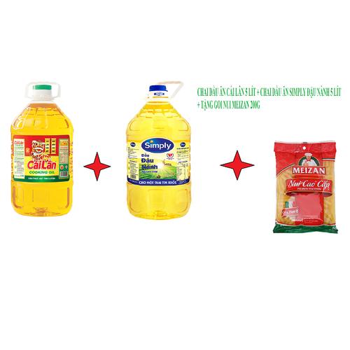Dầu ăn cái lân 5l + dầu ăn simply đậu nành 5 lít + tặng gói nui meizan 200gr - 17570976 , 23586873 , 15_23586873 , 381000 , Dau-an-cai-lan-5l-dau-an-simply-dau-nanh-5-lit-tang-goi-nui-meizan-200gr-15_23586873 , sendo.vn , Dầu ăn cái lân 5l + dầu ăn simply đậu nành 5 lít + tặng gói nui meizan 200gr