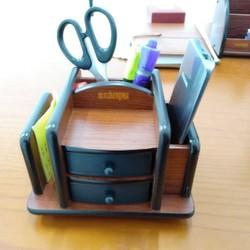 Khay cắm bút gỗ 8013 đẹp - Ống cắm bút gỗ MS-8013
