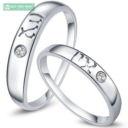 Nhẫn đôi Bạc Hiểu Minh NC315  cung xử nữ 23.8-22.9