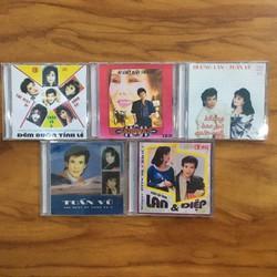 Bộ 5 Đĩa CD Nhạc Vàng Song Ca chọn lọc