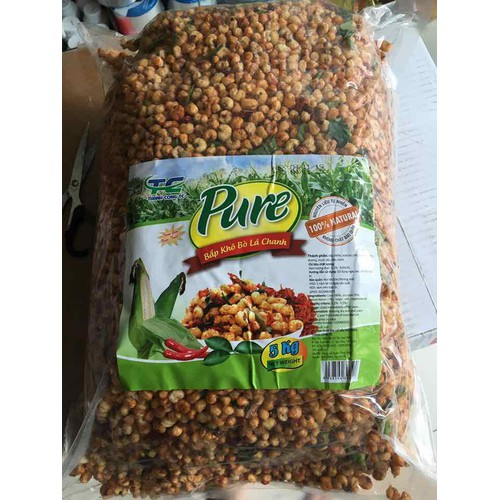 Bắp sấy khô bò lá chanh 1kg
