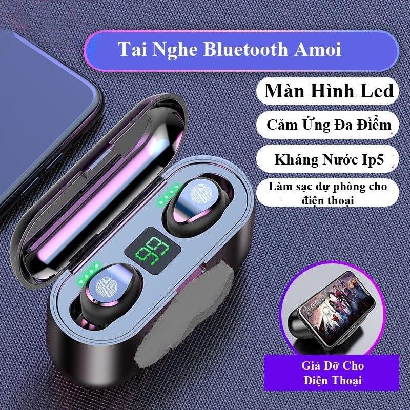 Tai nghe Bluetooth AMOi 5.0 cảm ứng 2000mAh - Home and Garden - 6