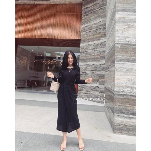 Váy nữ công sở 💖freeship💖 đầm nữ với thiết kế xoắn eo tôn dáng thời trang hàn quốc
