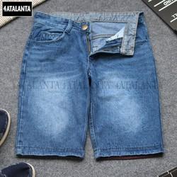[ HỖ TRỢ 10K PHÍ VẬN CHUYỂN ] Quần short jean nam thời trang vải dày đẹp màu xanh 4AT - QSJ - 241   quần ngắn nam – 4ATALANTA