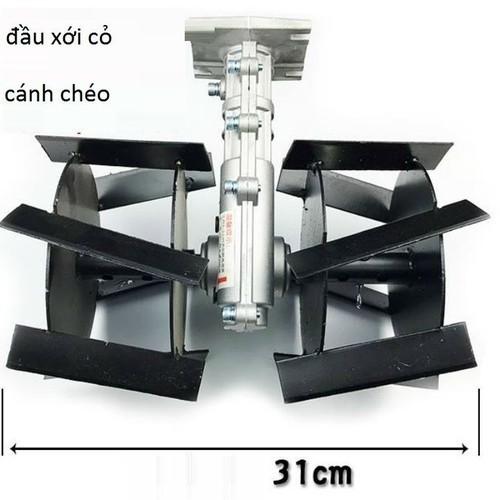 Đầu xới đất lắp máy cắt cỏ - lồng cánh chéo - xdc