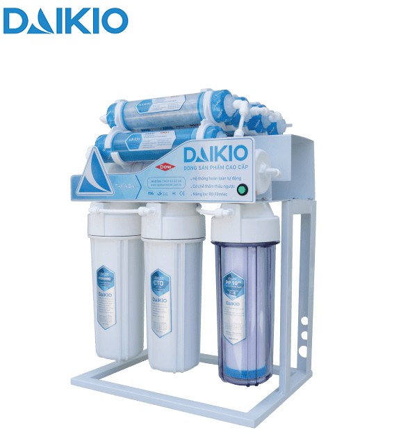 Máy lọc nước ro không vỏ tủ có chân đỡ daikio dkw-34008d