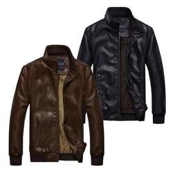 Áo khoác da nam lót lông AKD116
