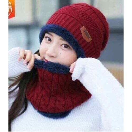 Sét mũ kèm khăn cho người lớn lót lông