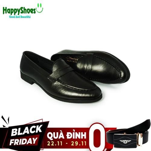 Giày lười nam da bò công sở happyshoes hs05 - tặng 1 thắt lưng tl01