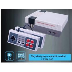 Máy chơi game điện tử 4 nút 620 trò chơi - cổng kết nối AV