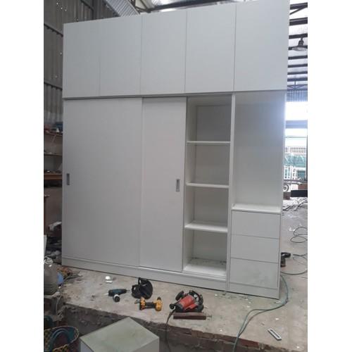 Tủ quần áo gỗ công nghiệp màu trắng - 20663712 , 23614265 , 15_23614265 , 19800000 , Tu-quan-ao-go-cong-nghiep-mau-trang-15_23614265 , sendo.vn , Tủ quần áo gỗ công nghiệp màu trắng