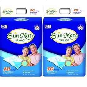 Combo 2 gói tấm lót Sunmate _ tấm lót tã người lớn - UDP