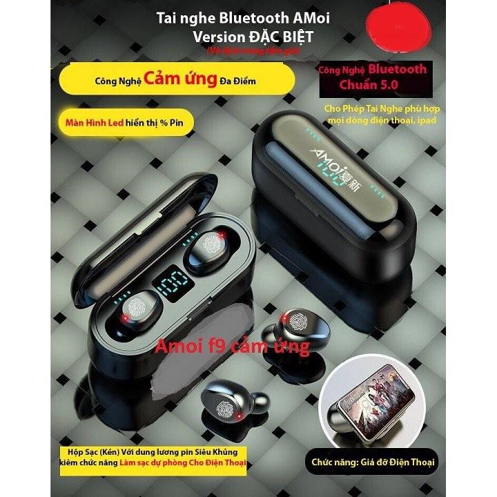 Tai nghe Bluetooth AMOi 5.0 cảm ứng 2000mAh - Home and Garden - 2