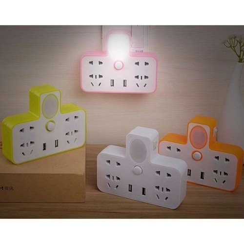 Chia ổ điện kiêm đèn ngủ có 2 usb sạc đt - 20654143 , 23599501 , 15_23599501 , 49000 , Chia-o-dien-kiem-den-ngu-co-2-usb-sac-dt-15_23599501 , sendo.vn , Chia ổ điện kiêm đèn ngủ có 2 usb sạc đt