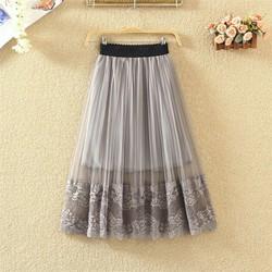 Chân váy nữ ren hoa nhiều màu QKT cv06