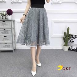 Chân váy xòe 2 lớp cao cấp QKT cv18