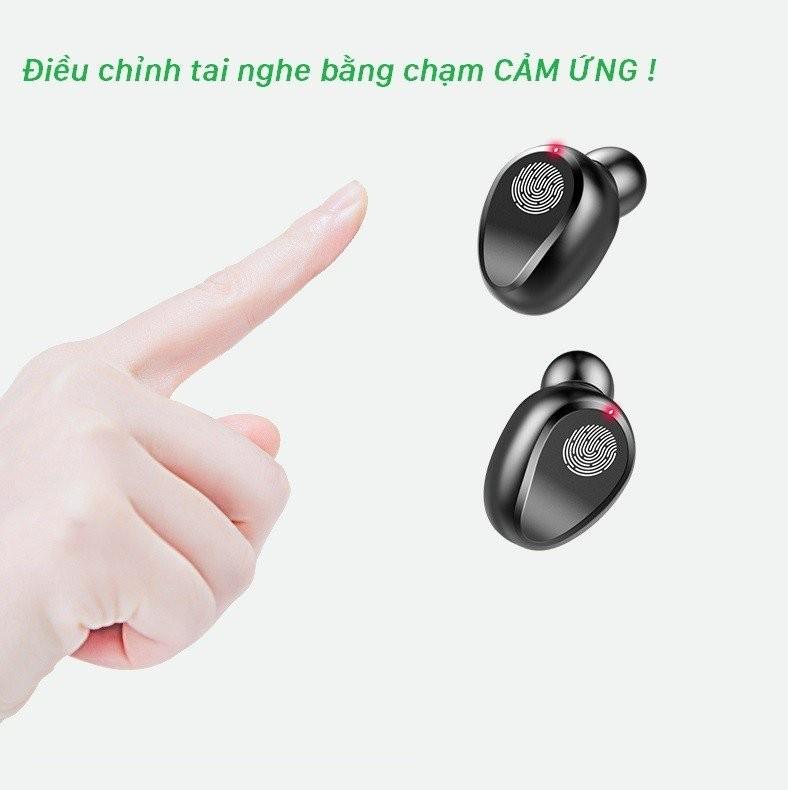 Tai nghe Bluetooth AMOi 5.0 cảm ứng 2000mAh - Home and Garden - 8