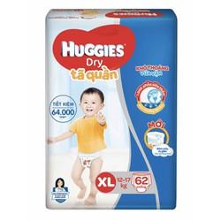 Combo tã quần Huggies XL62 tặng kèm 1 khây ăn cho bé