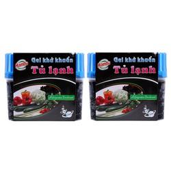 Bộ 2 Gel khử khuẩn, chống mùi hôi khó chịu  tủ lạnh, an toàn khi sử dụng 150g