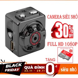 Camera Mini Siêu Nhỏ  SQ8- FULL HD1080P - TẶNG Thẻ Nhớ 32GB