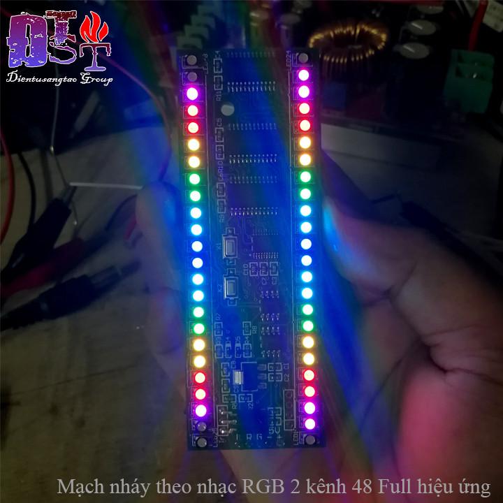Mạch nháy theo nhạc RGB 2 kênh 48 Led Full hiệu ứng