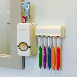 Dụng cụ nhã kem đánh răng  tự động  Touch me + hộp treo đựng bàn chảy đánh răng