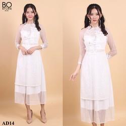 Set áo dài kèm chân váy thiết kế  sang trọng