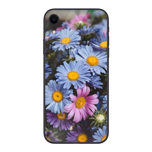 Ốp điện thoại kính cường lực cho máy iphone xr - 14 11 hoa cỏ đẹp ms hcd001