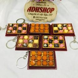 Đồ chơi búp bê – Móc khóa đồ ăn mô hình khay kẹo bánh