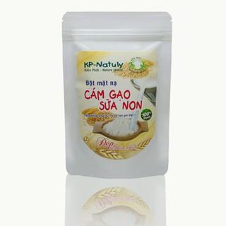 Bột Mặt Nạ Cám gạo Sữa Non-Trắng hồng rạng rỡ, tự tin con gái Việt gói 100gr