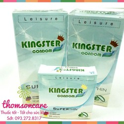 Bao cao su Kingster condom   Nhập khẩu Malaysia – Hộp 3 chiếc