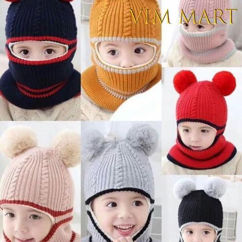Mũ len trùm đầu cho trẻ em