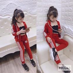 Bộ quần áo khoác thể thao khỏe khoắn đáng yêu cho bé trai, bé gái từ  10-38kg, hàng đẹp
