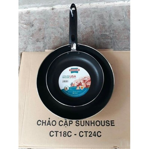 Set 2 cặp chảo sunhouse về hàng - 20680415 , 23639295 , 15_23639295 , 157000 , Set-2-cap-chao-sunhouse-ve-hang-15_23639295 , sendo.vn , Set 2 cặp chảo sunhouse về hàng