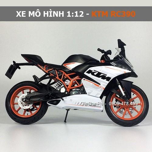 Xe mô hình tỉ lệ 1:12 - ktm rc390 - đen cam - không hộp