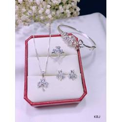 Bộ trang sức bạc cỏ ba lá