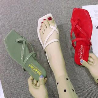Dép nữ Xỏ ngón big size đế bệt phong cách ĐẸP&SHOCK - 12021-trắng thumbnail