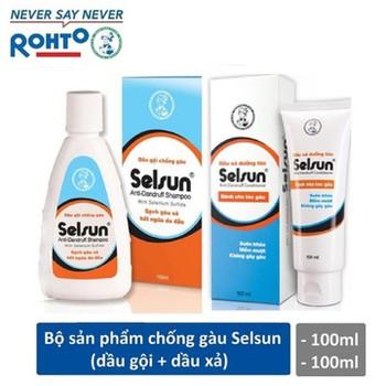 Bộ sản phẩm chống gàu Selsun - Dầu gội chống gàu Selsun 100ml + Dầu xả dưỡng tóc Selsun 100ml