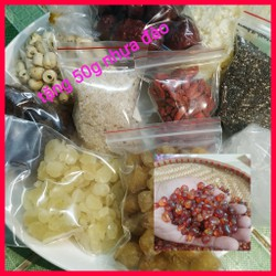 Chè dưỡng nhan - set 12 nguyên liệu nấu 30 chén - tặng 50g nhựa đào