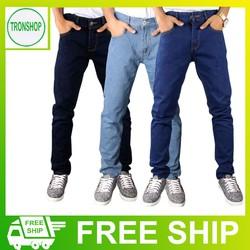 Combo 3 quần jeans nam ống suông vải đẹp không ra màu TS616263 Tronshop
