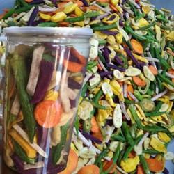 Rau củ quả sấy giòn tan loại 1 hàng xuất khẩu cực ngon 1kg