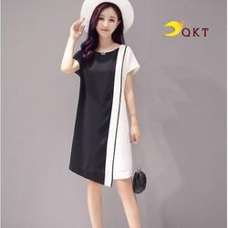 Đầm suông nữ tặng kèm dây beo thắt eo QKT da33