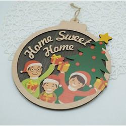 Biển gỗ trang trí MERRY CHRISTMAS home sweet home