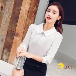 Sơ mi nữ dài tay có cúc sau QKT sm169