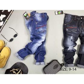 Quần jean bé trai, quần jean dài siêu ngầu cho bé trai cỡ đại - DO1211-01