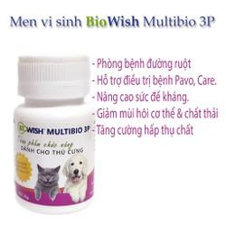 Thực Phẩm chức năng Bio Wish Multibio 3P 35g Men vi sinh bổ sung lợi khuẩn cho thú cưng - CutePets